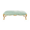 Stuva Upholstered Turquoise Velvet Bench with Gold Legs 2