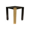 Tree Distressed Square Wood and Stainless Side Table 6
