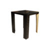 Tree Distressed Square Wood and Stainless Side Table 2