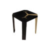 Tree Square Wood Side Table with Stainless Steel 1
