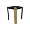 Tree Square Wood Side Table with Stainless Steel 2