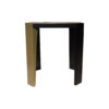 Tree Square Wood Side Table with Stainless Steel 5