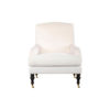 Warlus Upholstered High Back Armchair with Brass Inlay 1