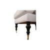 Warlus Upholstered High Back Armchair with Brass Inlay 3