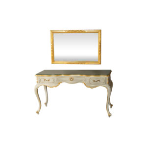 Watson Gold Rectangle Mirror With Console Table