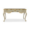 Watson Wood Light Grey Console Table with Mirror Glass Top 4