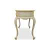 Watson Wood Light Grey Console Table with Mirror Glass Top 3