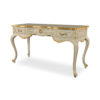 Watson Wood Light Grey Console Table with Mirror Glass Top 2