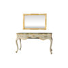 Watson Wood Light Grey Console Table with Mirror Glass Top 1