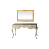 Watson Wood Light Grey Console Table with Mirror Glass Top 5