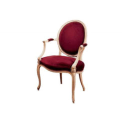 antique-french-style-oval-armchair-dark-red-velvet-upholstery-fabric