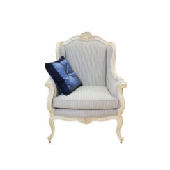 classic-wing-back-chair-with-wooden-carved-and-strip-fabric-upholstery