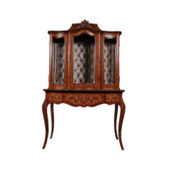 ekaterina-hand-carved-antique-french-style-display-cabinet-with-three-doors-and-tufted-fabric