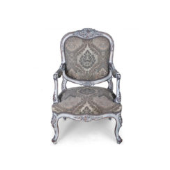 french-antique-style-armchair-upholstered-hand-carved-detailed-distressed-paint