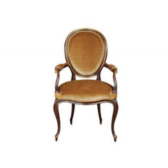 french-style-oval-armchair-desert-velvet-upholstery-fabric