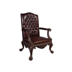genuine-lion-carved-arm-chair-with-tufted-leather