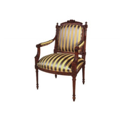 luxury-french-armchair-with-hand-carved-detailed-and-upholstery-stripe-fabric