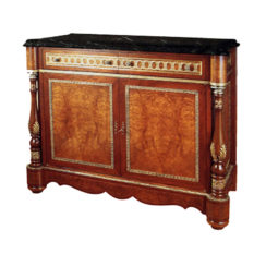 Antique Chest Marble Top with Natural Veneer Inlay