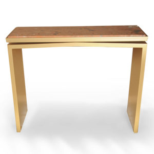 Arch Gold Marble Top Console Table