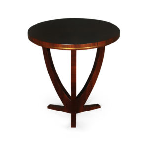 Austin Circular Cross Leg Wood Top Side Table