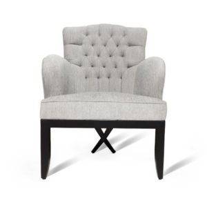 Cross Upholstered Tufted Armchair