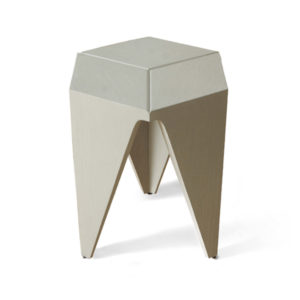 Diamond Grey Distressed Hexagonal Side Table