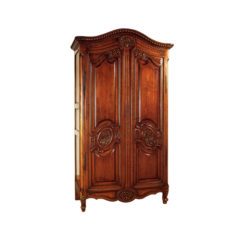 Earnestine Wooden Armoire Wardrobe Hand Carved Wood