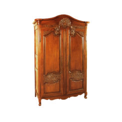 Earnshaw Wooden Armoire Wardrobe Hand Carved Wood