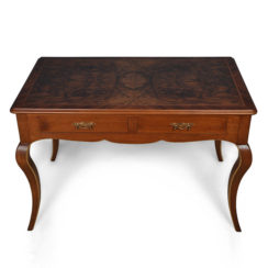 Elegant Writing Desk with Natural Veneer Inlay
