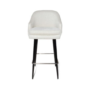 Finess Upholstered Wood And Stainless Steel Bar Stool