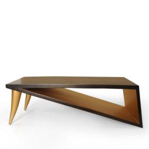 Jayden Black Wooden Coffee Table With Golden Legs