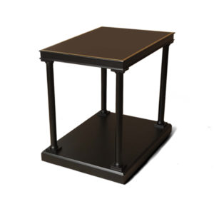 Marshal Rectangular Side Table With Shelf