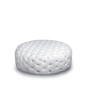 Oscar Upholstered Round Tufted Ottoman