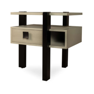 Slava Black And Grey Gloss Bedside Table