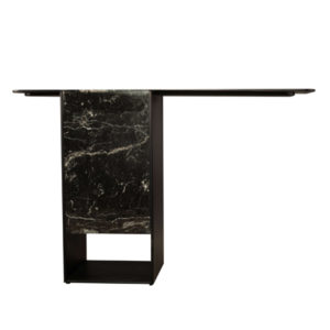 Sylvan Black Wood And Marble Console Table