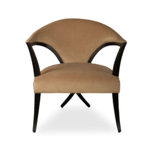 Zelle Upholstered Curved Arm Chair With Cross Legs