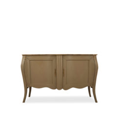 Adagio Beige Wooden with Marble Top Sideboard