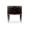 Arabelle 2 Drawers with Brass and Marble Bedside Table 3