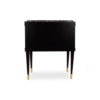 Arabelle 2 Drawers with Brass and Marble Bedside Table 6
