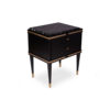 Arabelle 2 Drawers with Brass and Marble Bedside Table 5