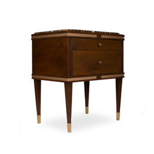 Arabelle Bedside Table Brown View