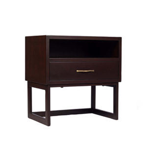 Ascot Bedside Table Brown View