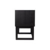 Ascot Black Bedside Table with Shelf and Stainless leg 5