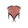 Bali Upholstered Wooden Frame Blush Velvet Armchair with Cross Legs 4
