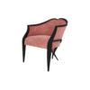 Bali Upholstered Wooden Frame Blush Velvet Armchair with Cross Legs 2