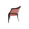 Bali Upholstered Wooden Frame Blush Velvet Armchair with Cross Legs 3