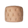 Boho Upholstered Round Tufted Beige Pouf 5