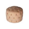 Boho Upholstered Round Tufted Beige Pouf 6