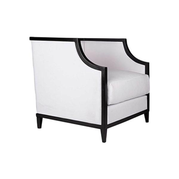 Bonaldo Upholstered Wooden Frame Padded Armchair Side View