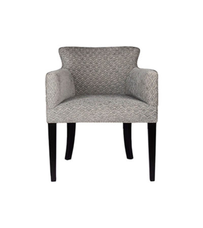 Eaton Upholstered Curved Grey Fabric Armchair